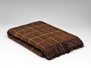 McNutt Wood Cabin Check Blanket