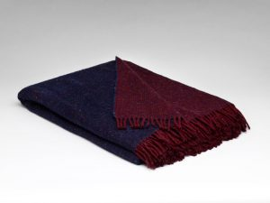 Mcnutt Ink Claret Reversible Blanket