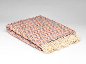 Mcnutt Thistle Orange Block Blanket