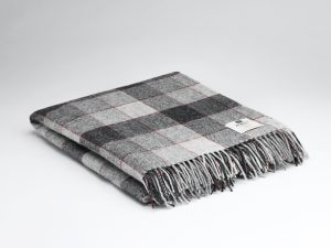 McNutt Red Gray Block Blanket