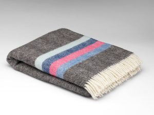 McNutt Winter Bright Stripe Blanket