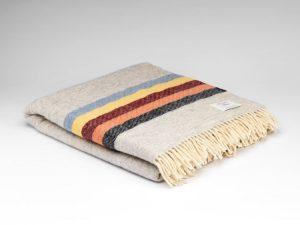 McNutt Silver Gray Stripe Blanket