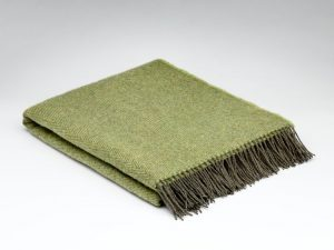 McNutt Jade Lime Herringbone Blanket