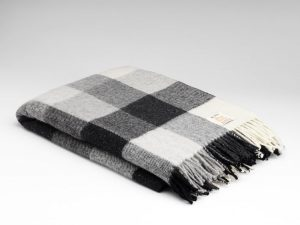 McNutt Gray Check Blanket