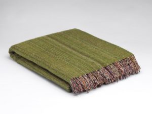 McNutt Meadow Green Tweed Blanket
