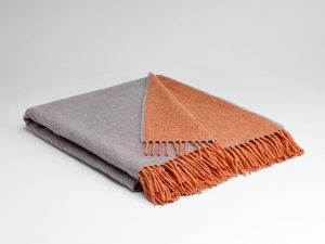 McNutt Orange Smoke Reversible Supersoft Blanket