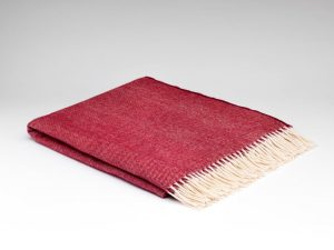 McNutt Spotted Cranberry Supersoft Blanket