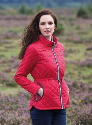 Jack Murphy Ladies Red Dot Quilted Jacket