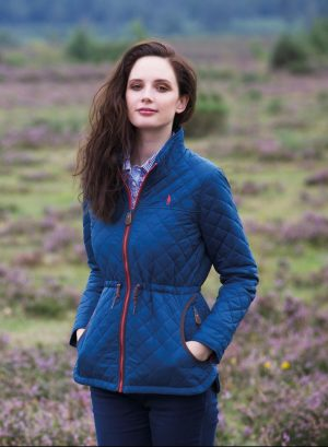 Jack Murphy Ladies Navy Dot Quilted Jacket