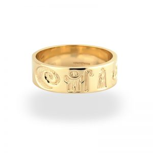 'History of Ireland 14K Gold Ring s2419 - Size 12 only