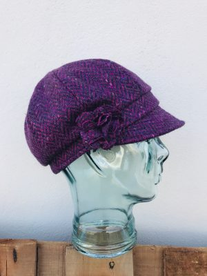 John Hanly Ladies Pink Newsboy Hat