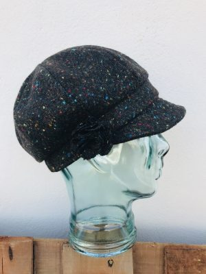 John Hanly Ladies Brown Newsboy Hat
