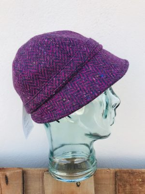 John Hanly Ladies Pink Tweed Hat
