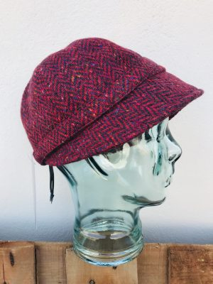 John Hanly Ladies Red Tweed Hat