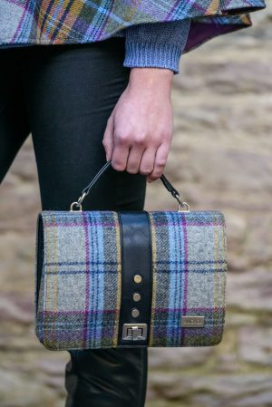 Mucros Gray Check Fiona Bag