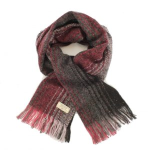 Mucros Red Black Islander Scarf