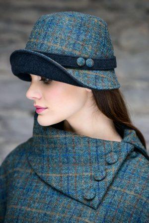 Mucros Teal Clodagh Hat
