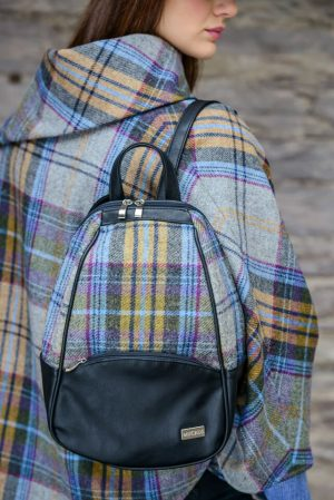 Mucros Grey Check Colleen bag