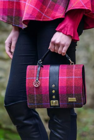 Mucros Pink Check Fiona Bag