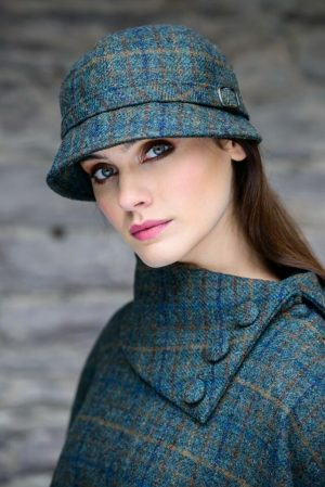 Mucros Teal Flapper Hat