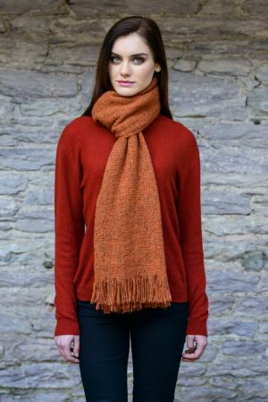 Mucros Orange Islander Scarf