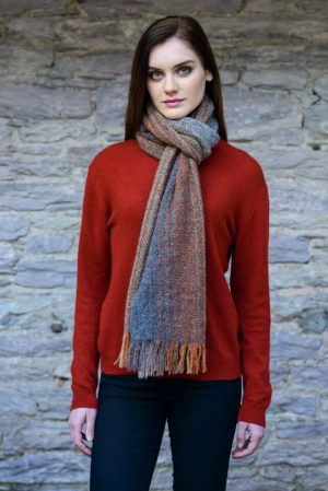 Mucros Orange Rust Islander Scarf