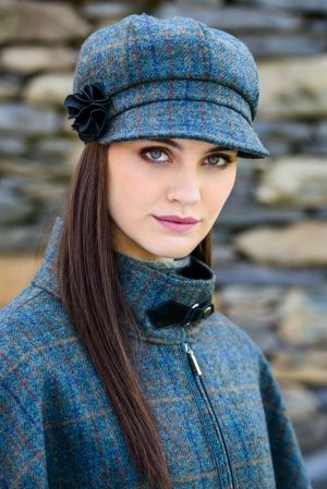 Mucros Weavers Teal Newsboy Cap