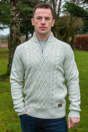 Men's Aran 1/2 Zip Sweater