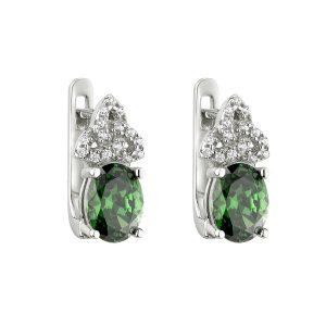 Solvar Green Celtic Knot Earrings