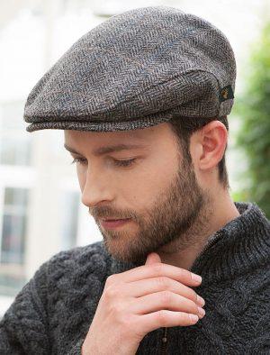 Mucros Grey Herringbone Cap