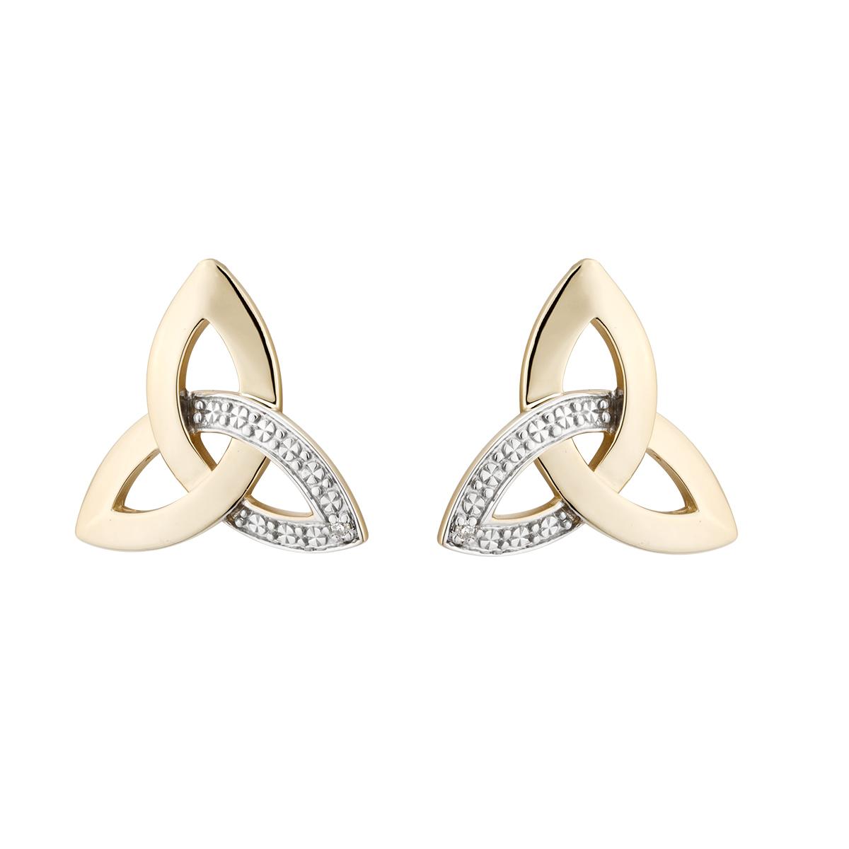 d3914d2f9 Solvar 10K Trinity Diamond Earrings 33990 - Skellig Gift Store
