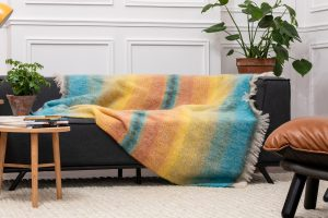 Foxford Multi Color Mohair Blanket 4258/b2