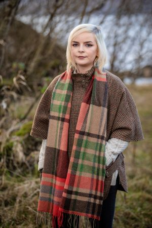 Foxford Lambswool Check Scarf