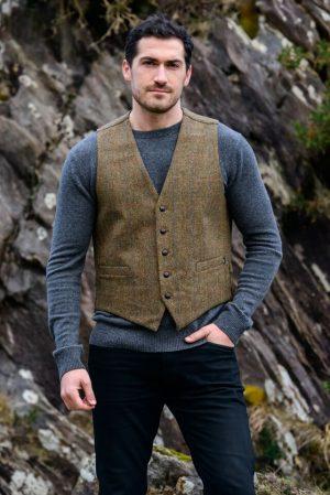 Mucros Brown Tweed Waistcoat