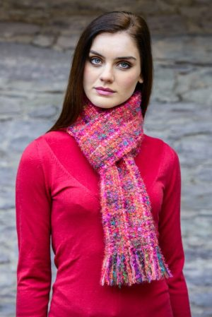 Mucros Pink Mohair Scarf