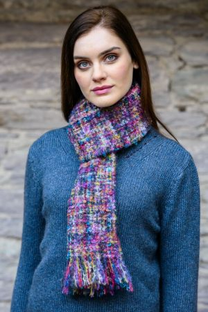 Mucros Multi Color Mohair Scarf