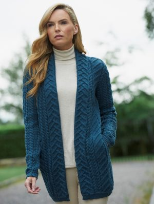 Aran Teal Super Soft Merino Coat