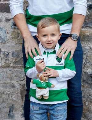 Kids Ireland Green White Rugby T-shirt