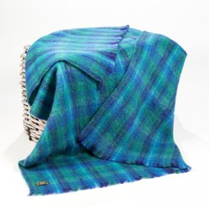 John Hanly Large Blue Green Throw