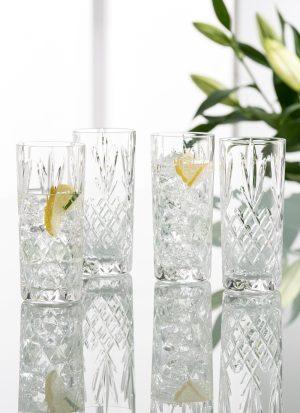 Galway Crystal Renmore Hi Ball Glasses Set of 4