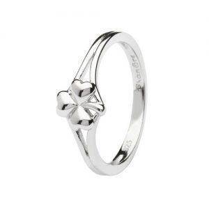 Shanore Sterling Silver Shamrock Ring
