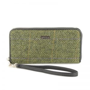 Mucros Weavers Green Herringbone Purse