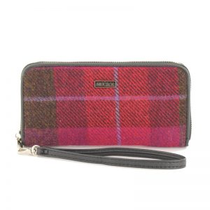 Mucros Weavers Pink Check Purse