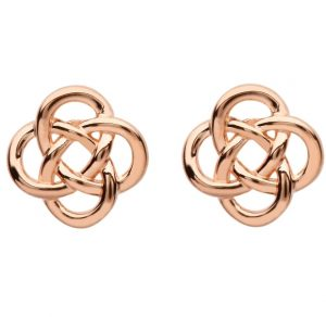 Celtic Rose Gold Stud Earrings