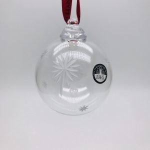 Irish Glass Christmas Star Bauble