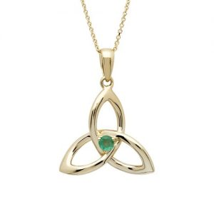 Shanore 14K Emerald Trinity Necklace