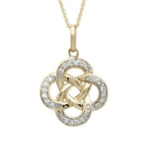 Shanore 14k Diamond Celtic Pendant