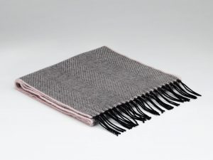 McNutt Rose Shadow Herringbone Scarf