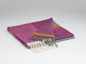 McNutt Beetroot And Smoke Check Scarf