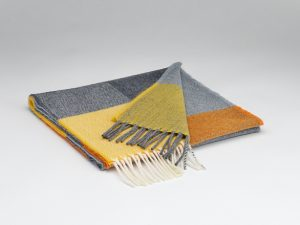 McNutt Orange And Smoke Check Scarf